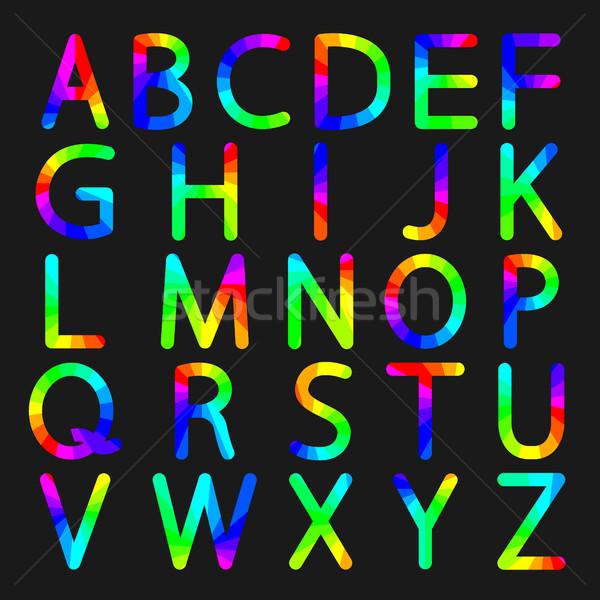 Rainbow letters of the alphabet, vector illustration. Stock photo © kup1984