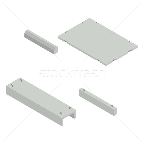Fer concrètes produits isométrique vue Photo stock © kup1984