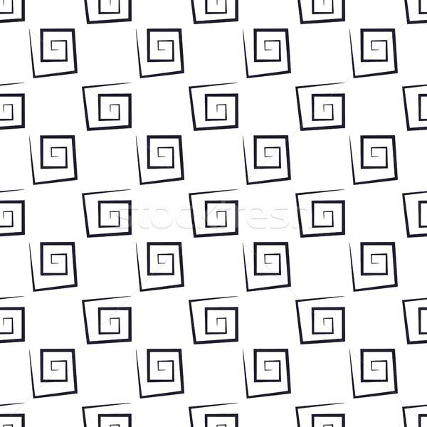Abstrato sem costura preto e branco textura praça Foto stock © kup1984