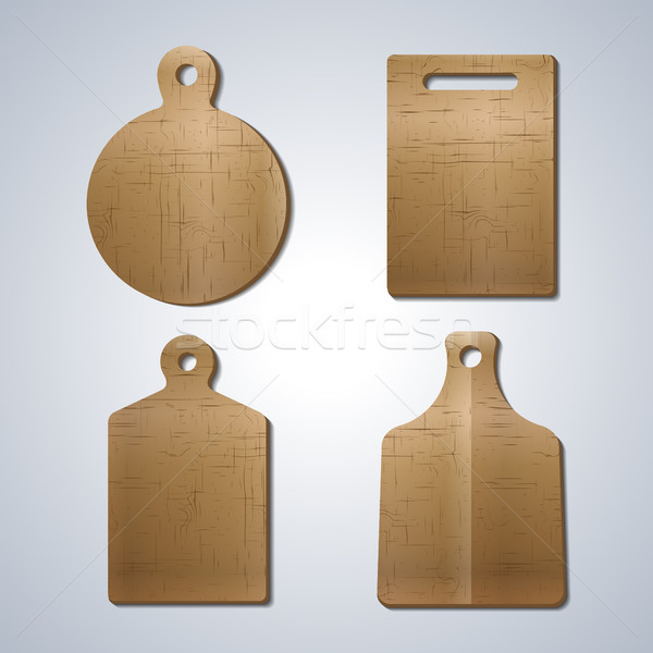 Board for cutting food, vector illustration. Stock photo © kup1984