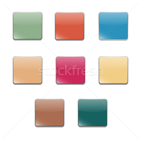 Set volumetric buttons, vector Stock photo © kup1984