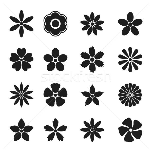 花 つぼみ セット ベクトル デザイン 要素 ストックフォト © kup1984