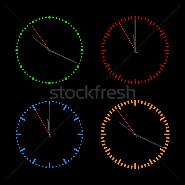 Round dials with arrows, vector illustration. Stock photo © kup1984