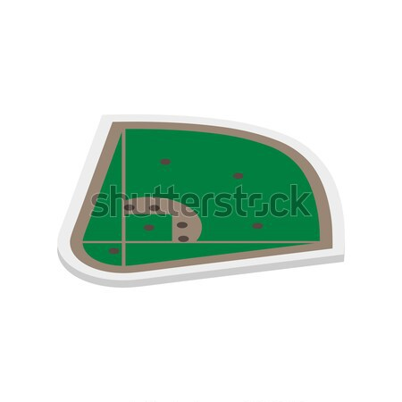Field of play baseball isometric, vector illustration. Stock photo © kup1984