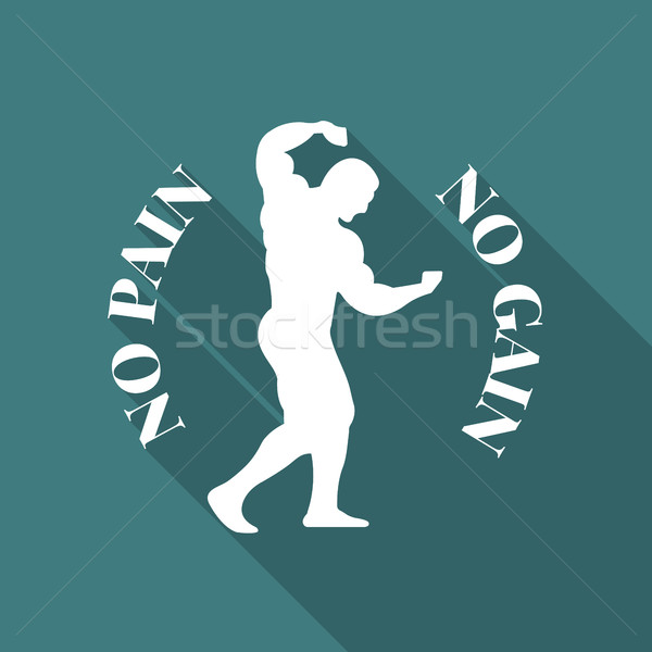 Icon athlete, vector illustration. Stock photo © kup1984