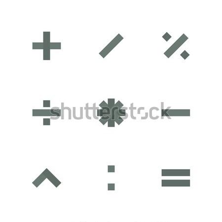 Symbol Set of mathematical operations, vector illustration. Stock photo © kup1984