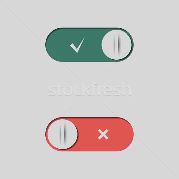 セット ボタン 異なる ウェブ インターフェース デザイン ストックフォト © kup1984
