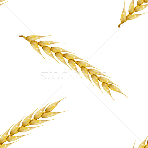 Seamless background with wheat spikelets, vector illustration. Stock photo © kup1984