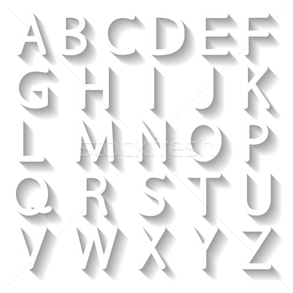 Stock photo: Set letters, vector illustration.