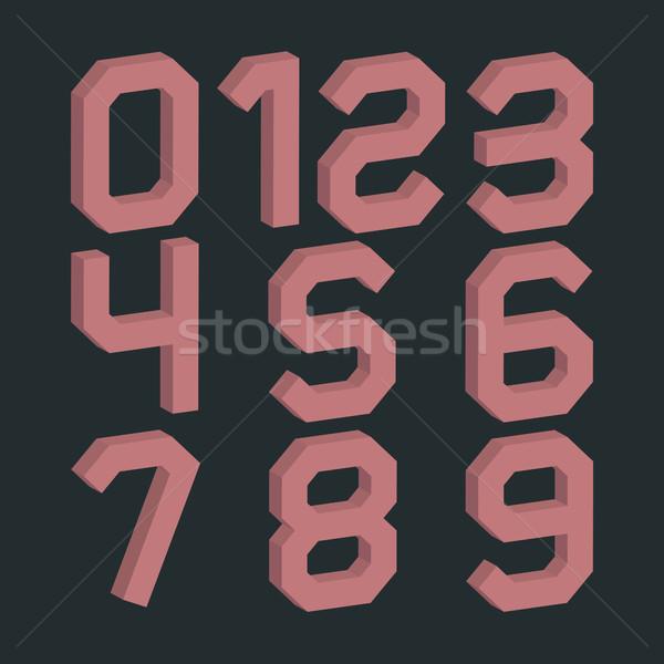 セット 番号 ゼロ 9 レトロな 色 ストックフォト © kup1984
