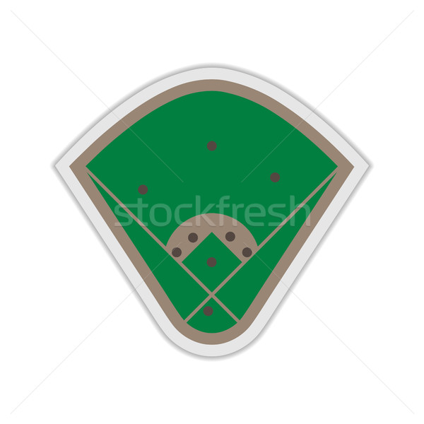A field for Baseball, vector illustration. Stock photo © kup1984