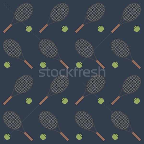 Sports seamless background, vector illustration. Stock photo © kup1984