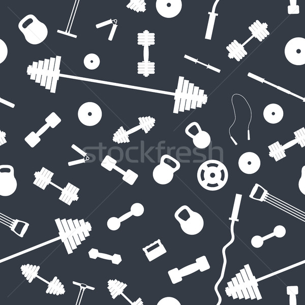 Seamless background from sports equipment, vector illustration. Stock photo © kup1984