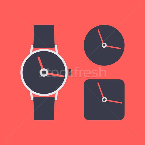 Symbol Armbanduhr Set unterschiedlich Uhr Symbole Stock foto © kup1984
