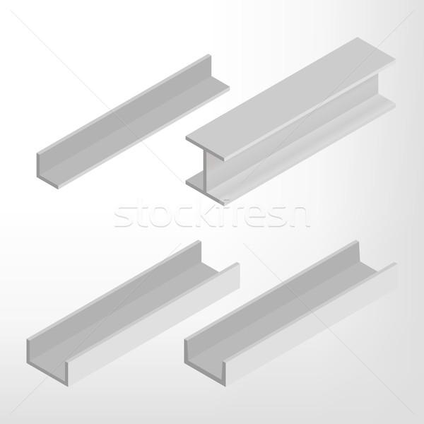 Acél nyaláb izometrikus izolált fehér terv Stock fotó © kup1984