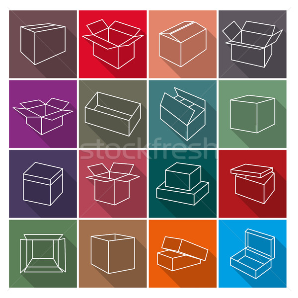 Stock photo: Icons box, vector illustration.