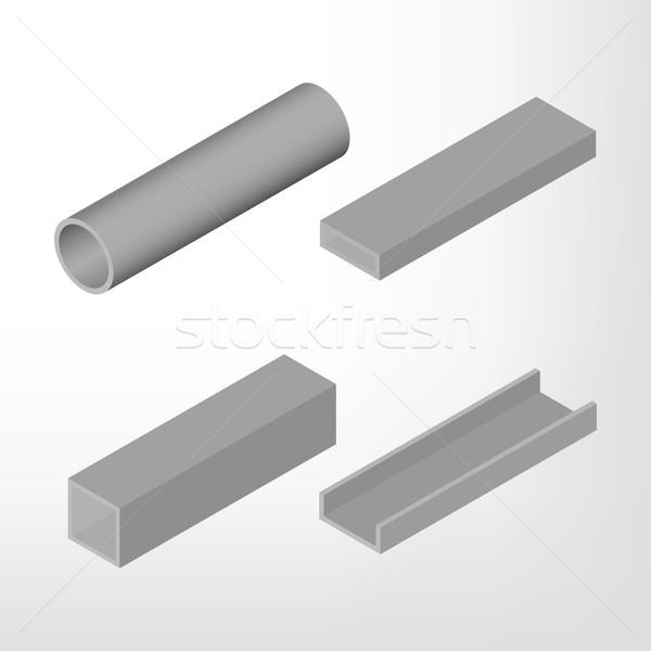 鋼 ビーム アイソメトリック 孤立した 白 デザイン ストックフォト © kup1984