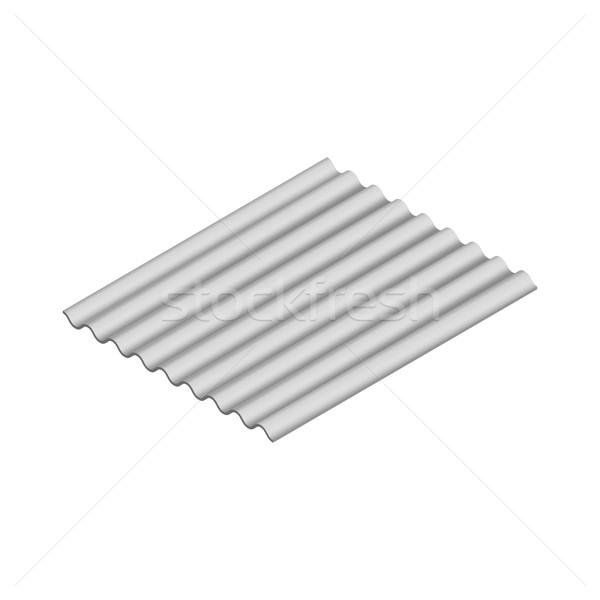 Foglio onda isometrica isolato bianco orizzontale Foto d'archivio © kup1984