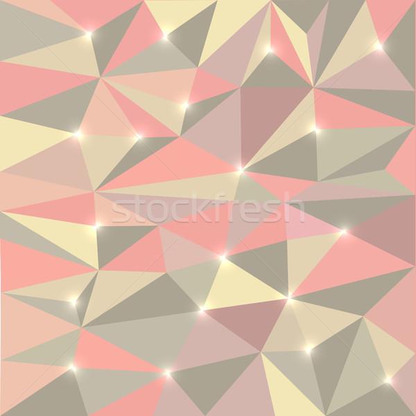 аннотация многоугольник низкий стены дизайна веб Сток-фото © kup1984