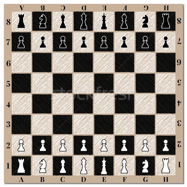 Chessboard, vector illustration. Stock photo © kup1984