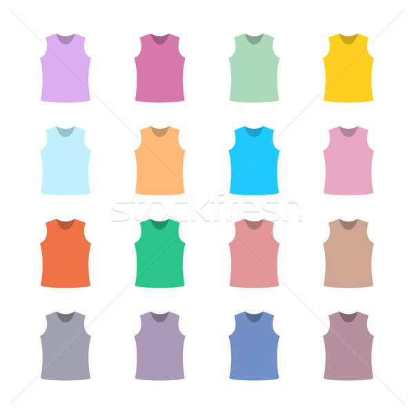 Set of colored tank top, vector illustration. Stock photo © kup1984