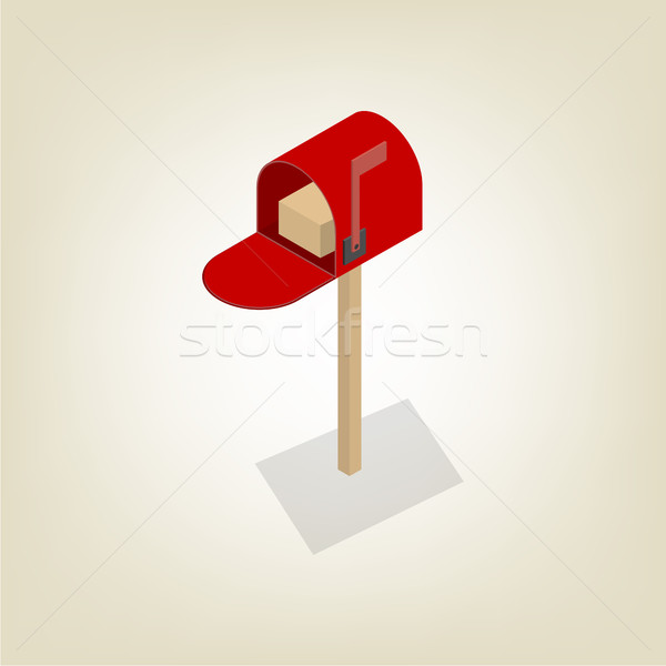 American mailbox isometric, vector illustration. Stock photo © kup1984