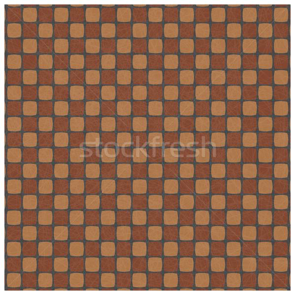 Végtelenített textúra négyzetek fal terv festék Stock fotó © kup1984