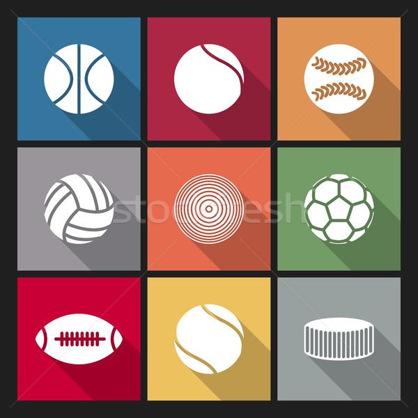 иконки различный спортивных долго диагональ Сток-фото © kup1984
