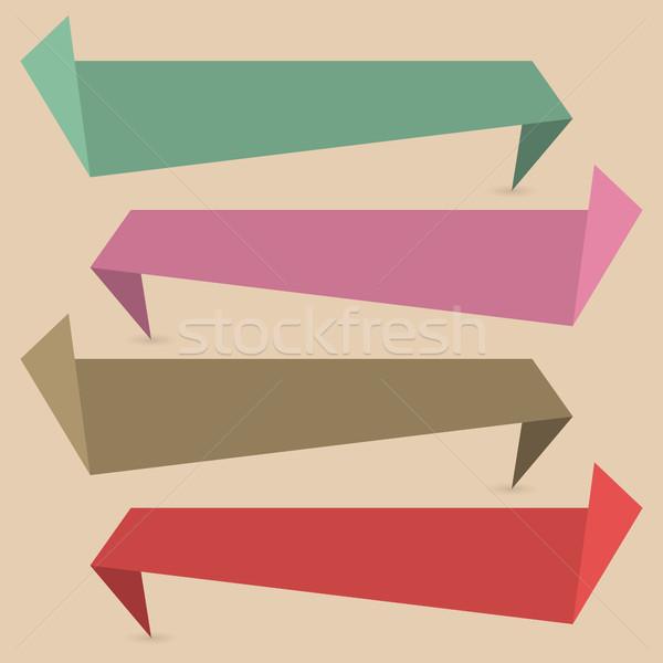 набор бумаги Баннеры четыре Сток-фото © kup1984