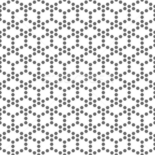 Végtelen minta feketefehér ismétlés mértani csempék átló Stock fotó © kup1984