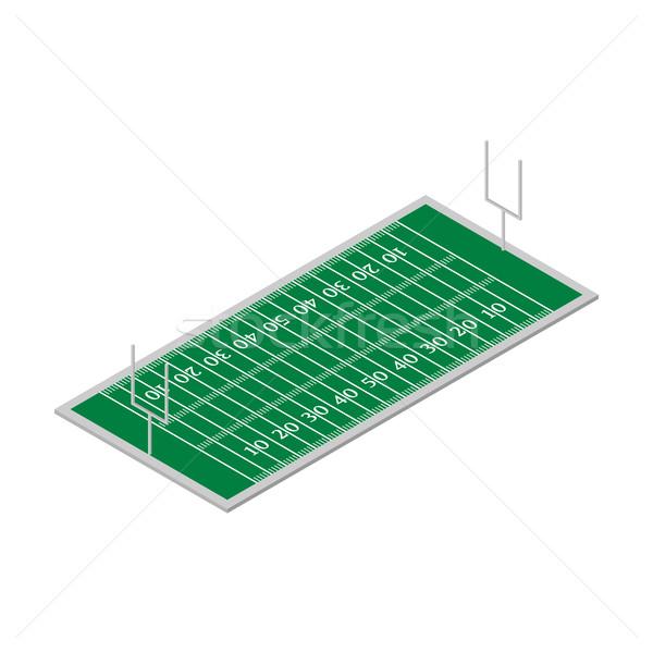 Stock photo: Field of play football isometric, vector illustration.