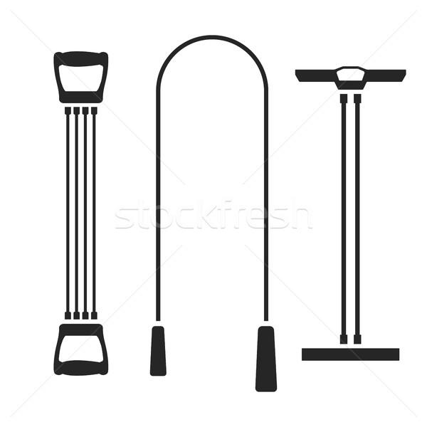 Sports equipment, vector illustration. Stock photo © kup1984