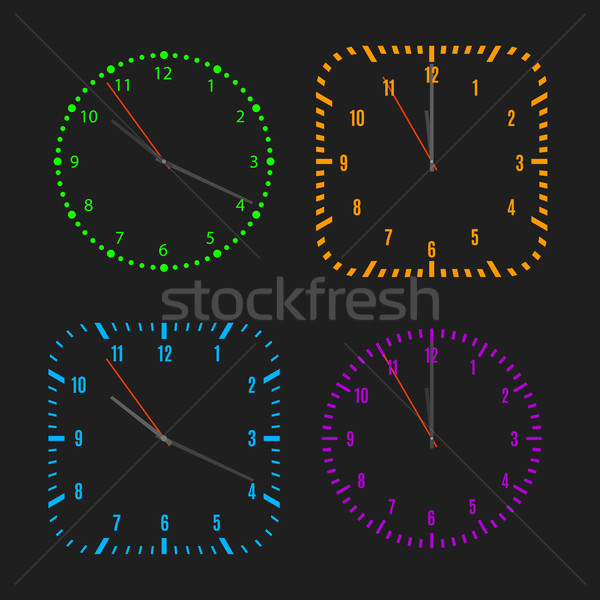 Square and round dials with arrows, vector illustration. Stock photo © kup1984