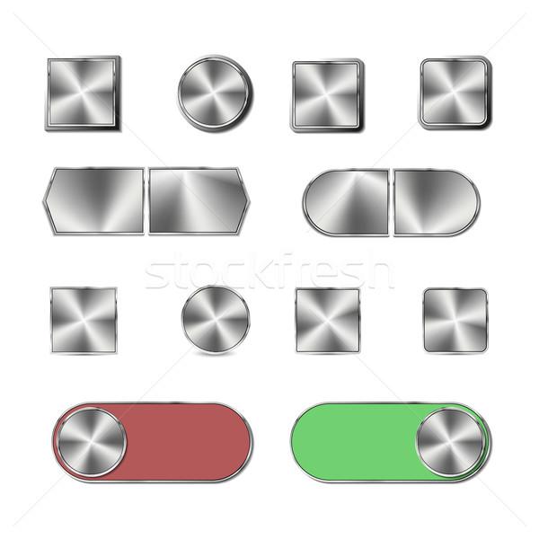 стали кнопки набор Кнопки технологий знак Сток-фото © kup1984