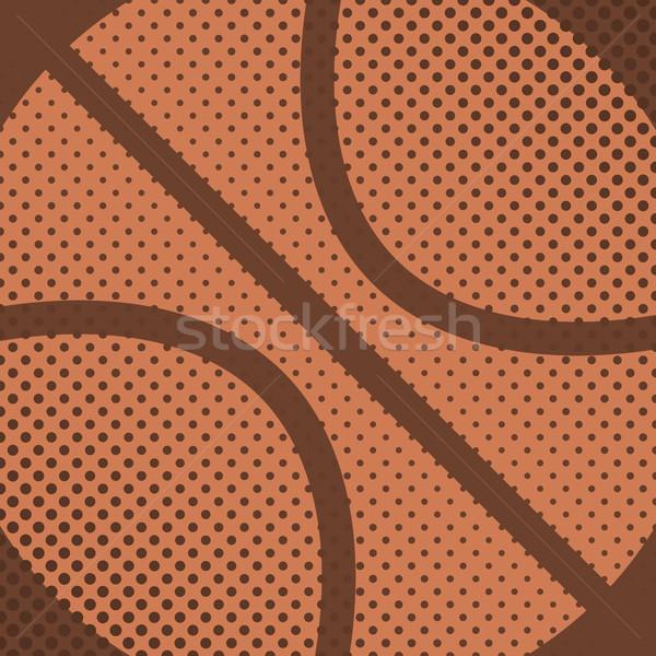 Sport palla gioco basket effetto mezzitoni Foto d'archivio © kup1984