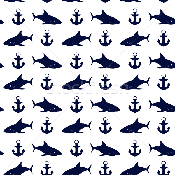 Nautical seamless background, vector illustration. Stock photo © kup1984
