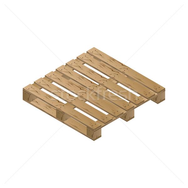 Wooden pallet isometric, vector illustration. Stock photo © kup1984