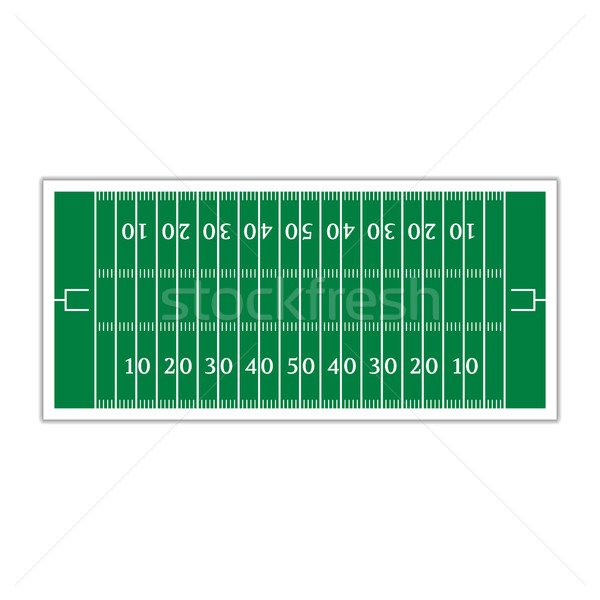 Field for football, vector illustration. Stock photo © kup1984
