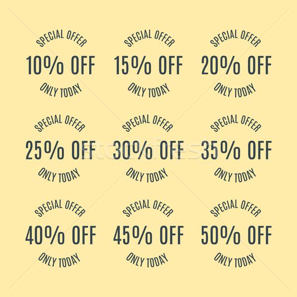 Set of discount labels, vector illustration. Stock photo © kup1984