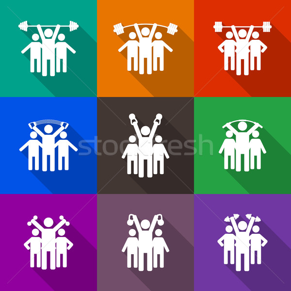 люди икона stick figure Сток-фото © kup1984