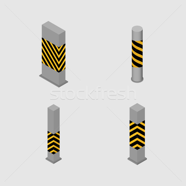 Set of concrete columns and pillars, vector illustration. Stock photo © kup1984