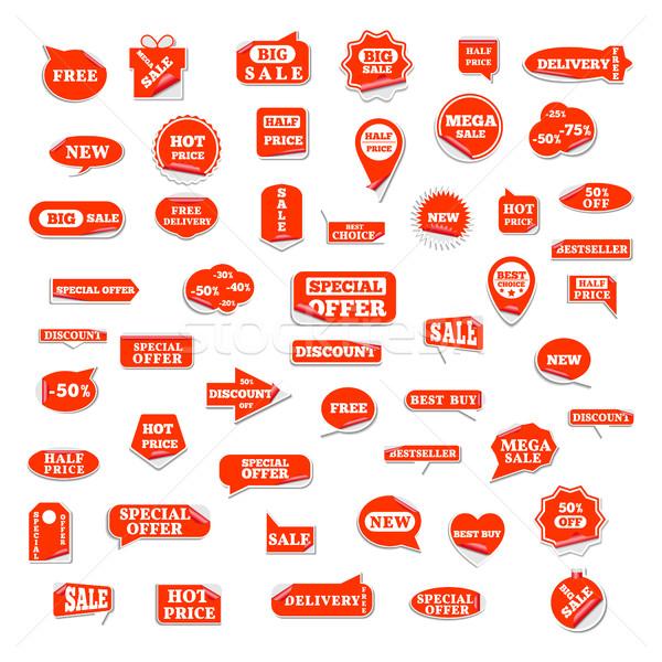 набор ярко Этикетки большой продажи форме Сток-фото © kup1984