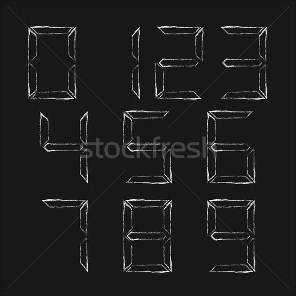 デジタル 番号 チョーク 黒 ウェブ ストックフォト © kup1984