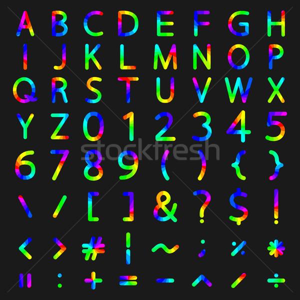 набор радуга Элементы алфавит номера Сток-фото © kup1984
