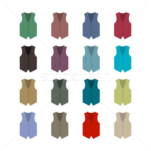 Stockfoto: Ingesteld · gekleurd · zestien · stijl · geïsoleerd · witte