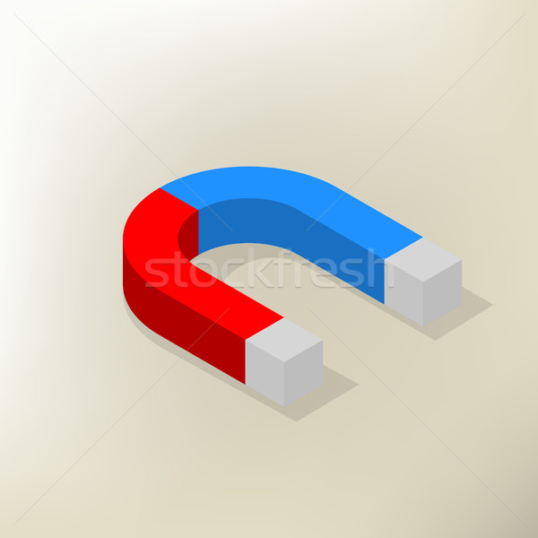 Icon magnet isometric, vector illustration. Stock photo © kup1984