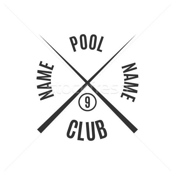Amblem bilardo kulüp gri logo farklı Stok fotoğraf © kup1984