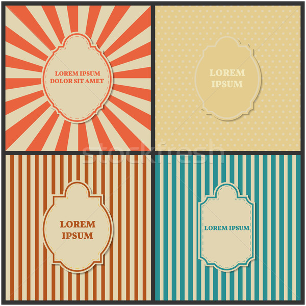 Set of backgrounds with frame, vector illustration. Stock photo © kup1984
