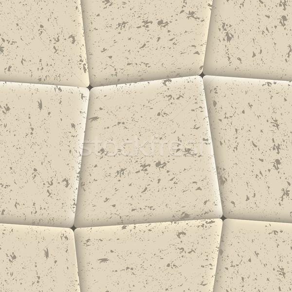Seamless background of sidewalk tiles, vector illustration. Stock photo © kup1984