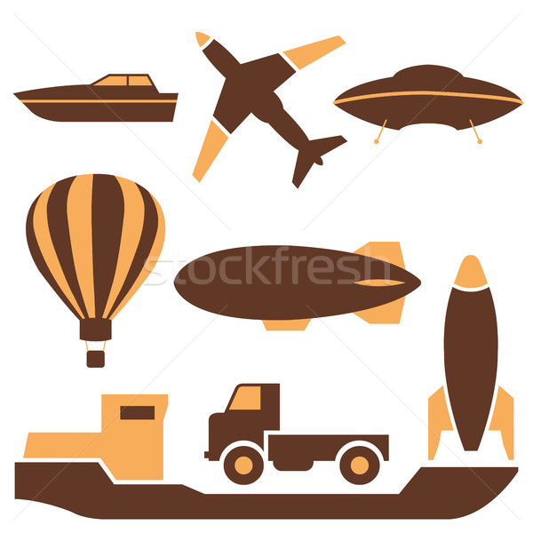 Transport icons, vector. Stock photo © kup1984